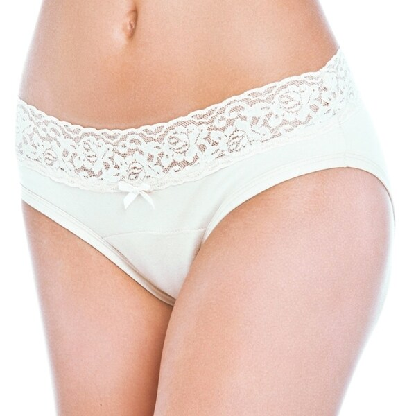 Prestige Biatta 'Medium' White Cotton Lace Waist Bikini