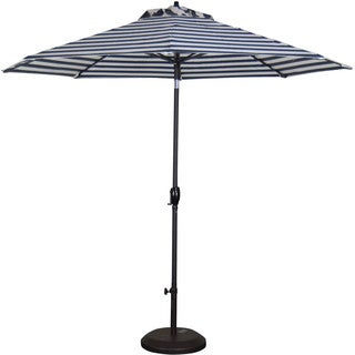 Somette 9-foot Aluminum Frame Striped Market Umbrella