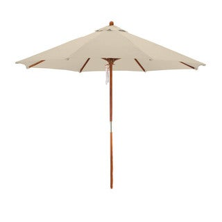 Somette 9-Foot Hardwood Frame Market Umbrella