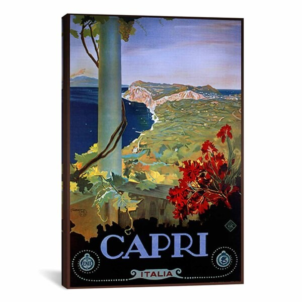 iCanvas Vintage Apple Collection Capri Italia from Vintage apple collection Canvas Print Wall Art