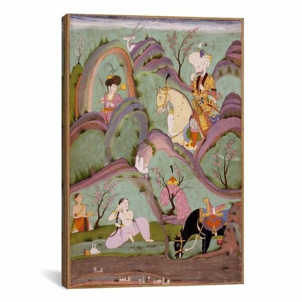 iCanvas Khusraw Beholding Shirin Bathing Canvas Print Wall Art