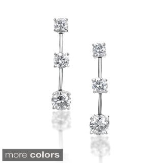 SummerRose 14k Gold 2 ct TDW Graduated Diamond Dangle Earrings (H-I, SI2-I1)