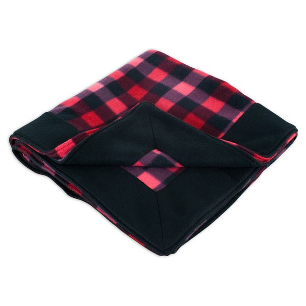Fleece Buffalo Check Brown Simply Soft Throw