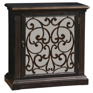 Hand Painted Distressed Nutmeg Brown Mirrored Finish Accent Chest