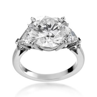 SummerRose Platinum 7ct TDW Diamond 3-stone Ring (H-I, I1-I2)