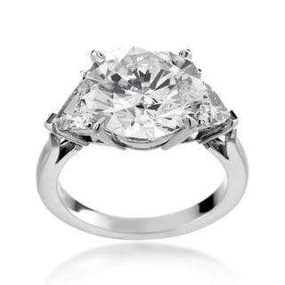SummerRose Platinum 7ct TDW Diamond 3-stone Engagement Ring (H-I, I1-I2)