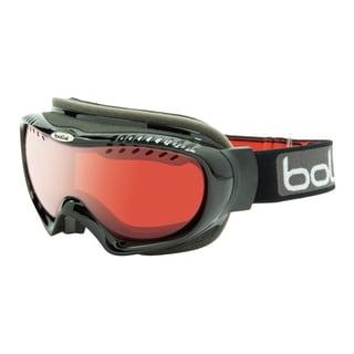 Bolle 20442 Simmer Ski Goggles (Shiny Black Frame/Vermillon Gun Lens)