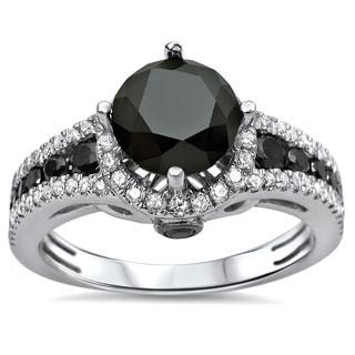 Certified 14k Gold 1 3/5ct TDW Diamond Engagement Ring