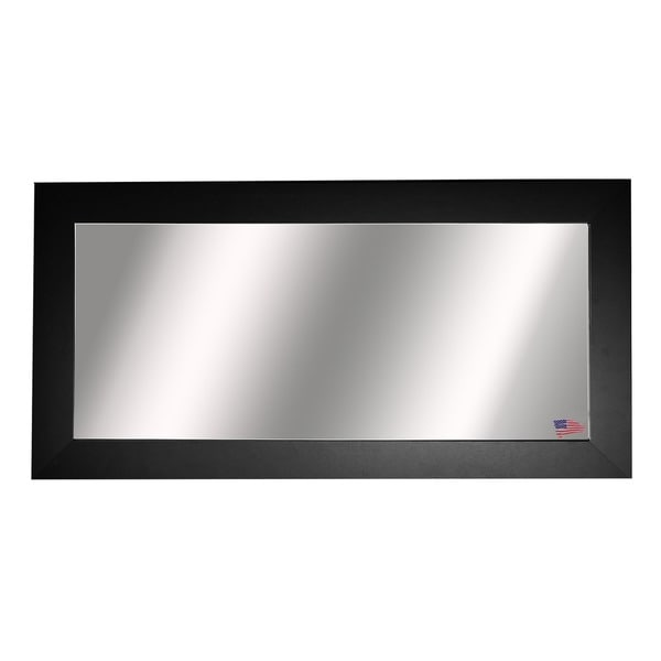 American Made Rayne Extra Large Black Satin Wide Wall Mirror
