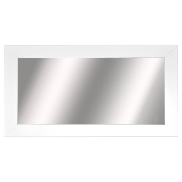 American Made Rayne Extra Large White Satin Wide Wall Mirror