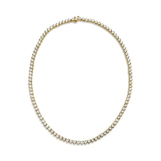 SummerRose, Diamond Line Necklace 18kt Yellow Gold (H-I, VS)