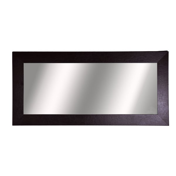 American Made Rayne Wide Brown Leather Extra Large Wall Mirror
