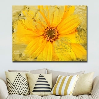 Ready2HangArt 'Painted Petals XXXVI' Floral Canvas Wall Art