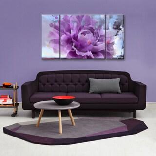 Ready2hangart 'Painted Petals LI' 3-piece Canvas Wall Art Set