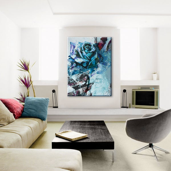 Ready2HangArt 'Painted Petals XXXIX' Canvas Wall Art 15231349