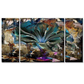 Ready2hangart 'Painted Petals LVIII' 3-piece Canvas Wall Art Set