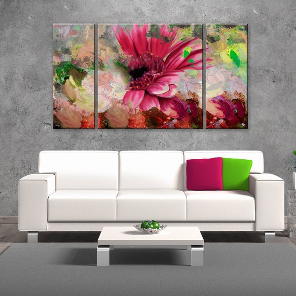 ready2hangart 39 painted petals lxiv 39 3 piece canvas wall. Black Bedroom Furniture Sets. Home Design Ideas