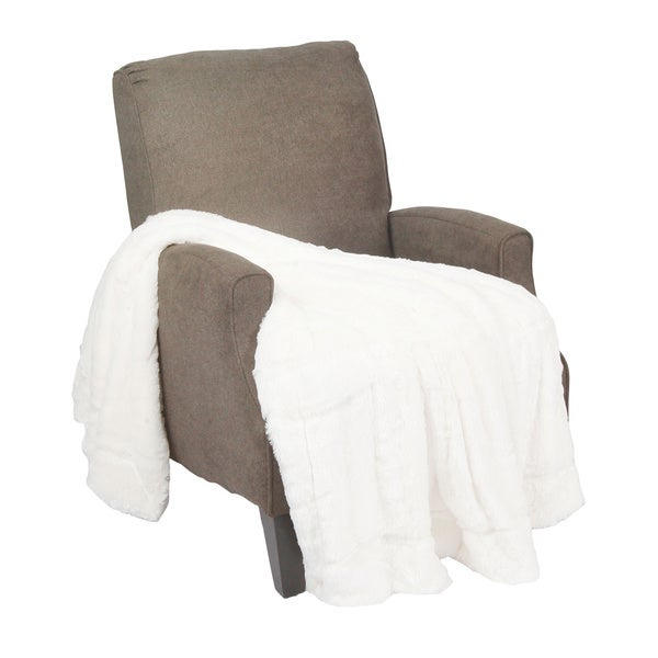 BNF Home Double Sided Faux Fur Throw