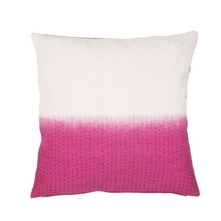 Handmade Abstract Pattern Cotton Pink 20-inch Throw Pillow