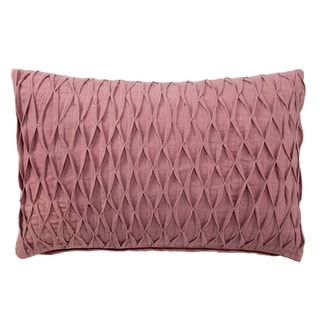 Handmade Solid Pink 14-inch Throw Pillow