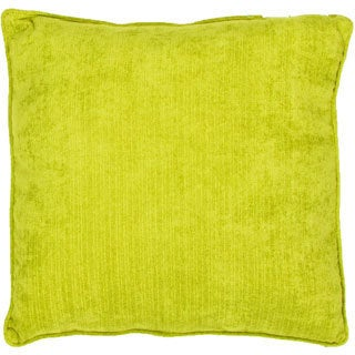 Handmade Solid Yellow 20-inch Throw Pillow