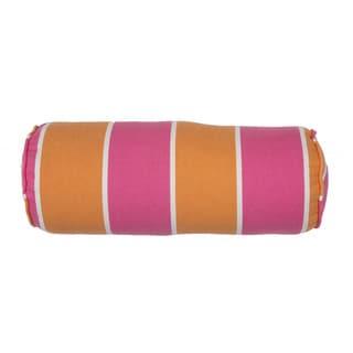 Handmade Stripe Pink/Orange Throw Pillow