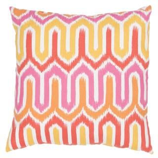 Handmade Geometric Pink 20-inch Throw Pillow