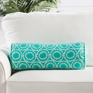 Handmade Blue Geometric Throw Pillow