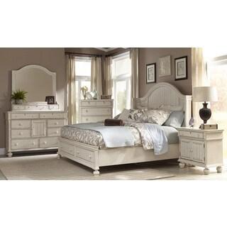 Laguna Antique White Storage Bed 6-piece Set