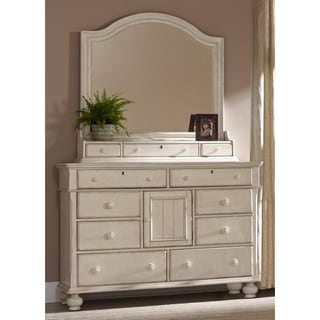 Greyson Living Laguna Antique White Dresser and Optional Mirror with Storage Box