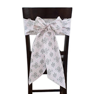 Madison Bella Chair Tie with Tapered Ends & Serged Edges, Set of 2