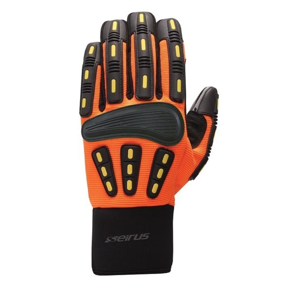 Seirus Men's Hi-Vis Orange HWS Workman Gripper Glove