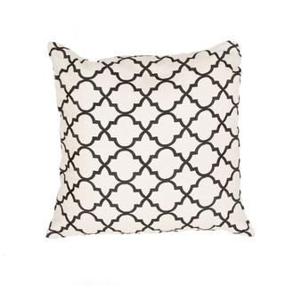 Handmade Moroccan Ivory/ Black 20-inch Throw Pillow