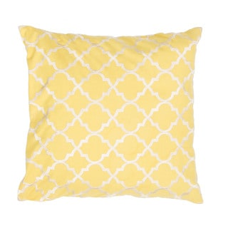 Handmade Moroccan Yellow 20-inch Throw Pillow