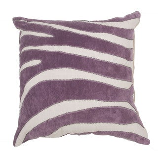 Handmade Animal Print Purple 22-inch Throw Pillow