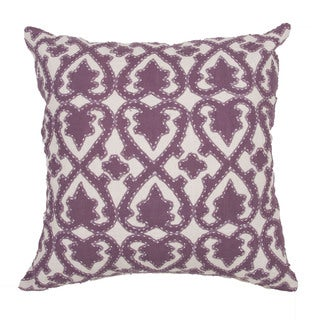 Handmade Floral Purple 22-inch Throw Pillow