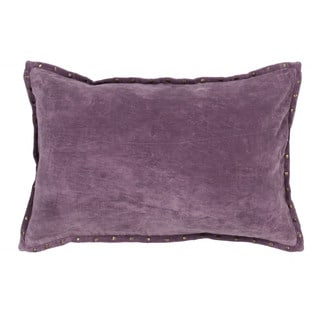 Handmade Solid Purple 16-inch Throw Pillow