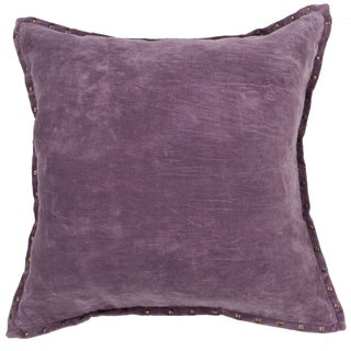 Handmade Solid Purple 22-inch Throw Pillow