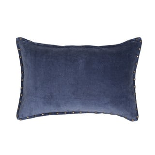 Handmade Solid Blue 16-inch Throw Pillow