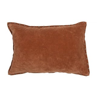 Handmade Solid Orange 16-inch Throw Pillow
