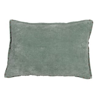 Handmade Solid Green 16-inch Throw Pillow