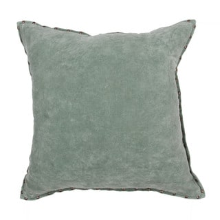 Handmade Solid Green 22-inch Throw Pillow