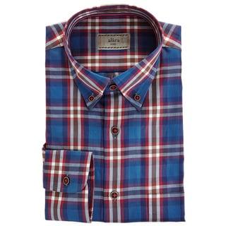 Alara Deep Blue Multi Color Plaid In Fine Egyptian Cotton Micro Twill Shirt
