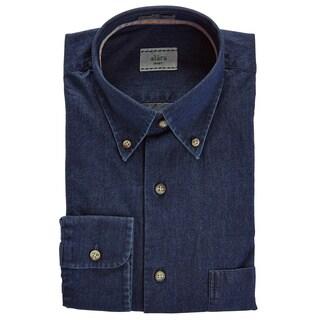 Alara Soft Wash Italian Black Denim In Button Down Shirt