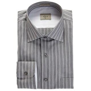 Alara Italian Stripe Grey Chambray Spread Collar Shirt