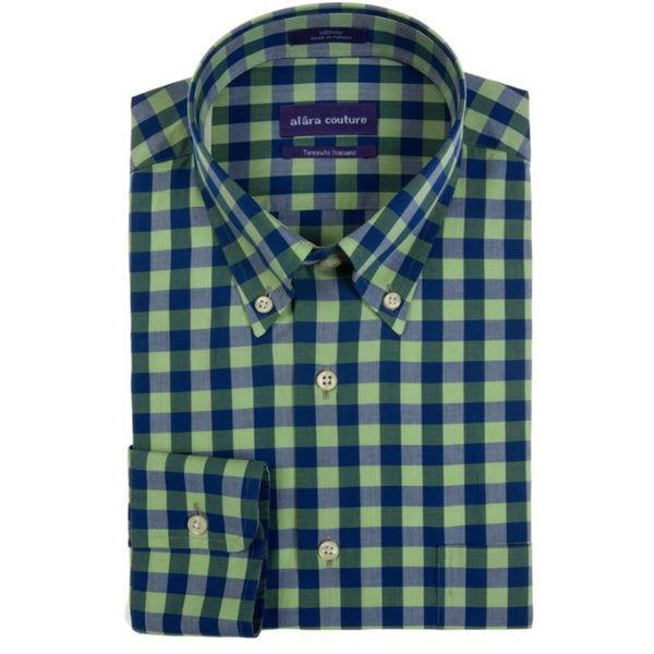 Alara Soft Washed Versatile Multi Colored Check Button Down Shirt