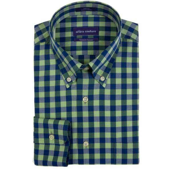 Alara Soft Washed Versatile Multi Colored Check Button Down Shirt