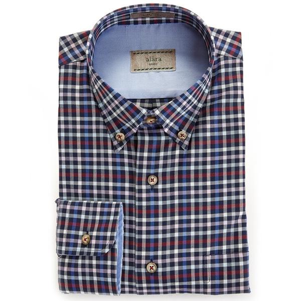 Alara Sporty Multi Color Check Button Down Shirt