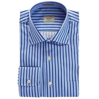 Alara Tonal Blues Satin Stripe Egyptian Cotton Shirt