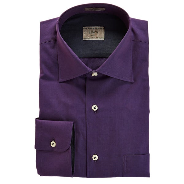 Alara Elegant Plum End on End Texture Shirt